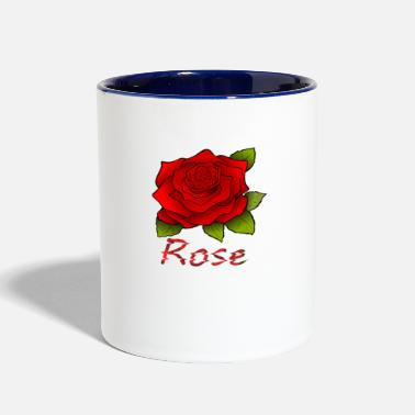 Red Rose red rose - Contrast Coffee Mug