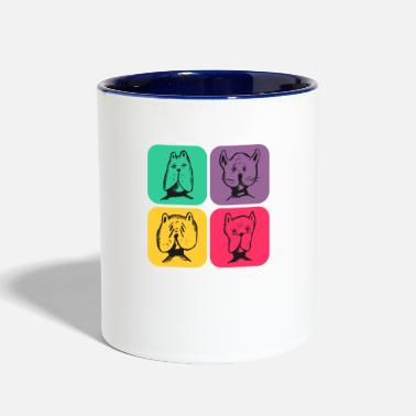 Quote DOG's Retro Design Color Variations - Two-Tone Mug