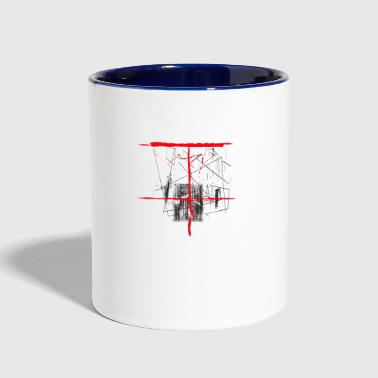Red Mirror - Contrast Coffee Mug