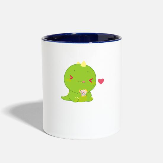 Cookie Mugs & Drinkware - Cookie Dino - Two-Tone Mug white/cobalt blue