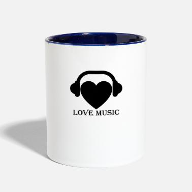 Musiclove lovemusic - Two-Tone Mug