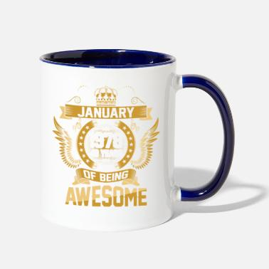 Age January 1978 40 Years Of Being Awesome - Two-Tone Mug