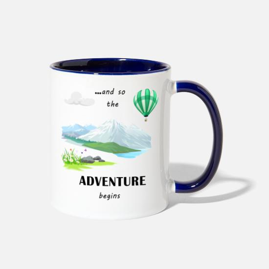 Adventure Mugs & Drinkware - Adventure - Two-Tone Mug white/cobalt blue