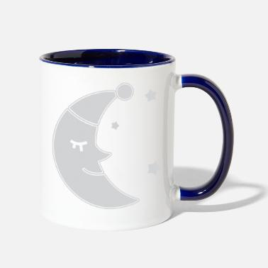 Moon moon face sleep - Two-Tone Mug