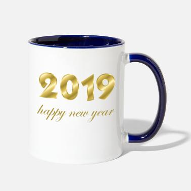 Production Year happy new year 2019 products - Two-Tone Mug