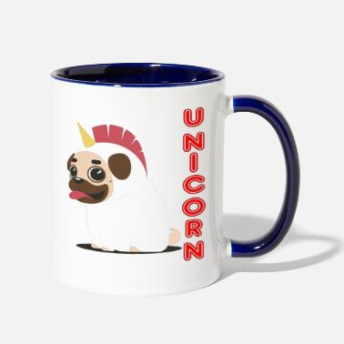 Fuuny Fuuny UNICORN dog - Two-Tone Mug