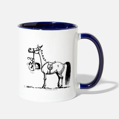 Thelwell Pony Stubborn Pony Thelwell Cartoon - Two-Tone Mug