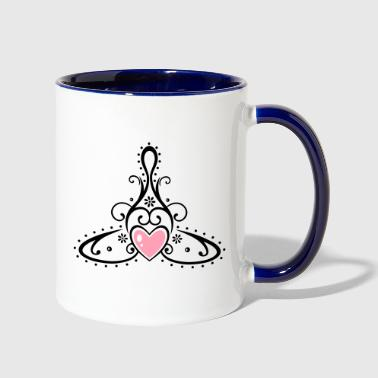 Celtic symbol, mother with child. - Contrast Coffee Mug