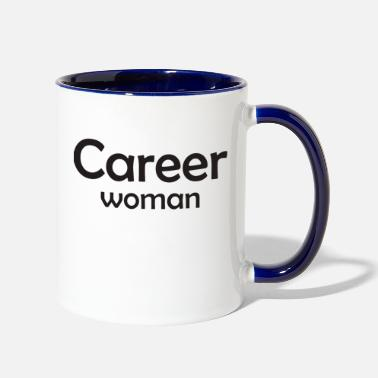 Career Career Woman - Two-Tone Mug