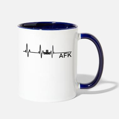 Going AFK is like dying - Two-Tone Mug