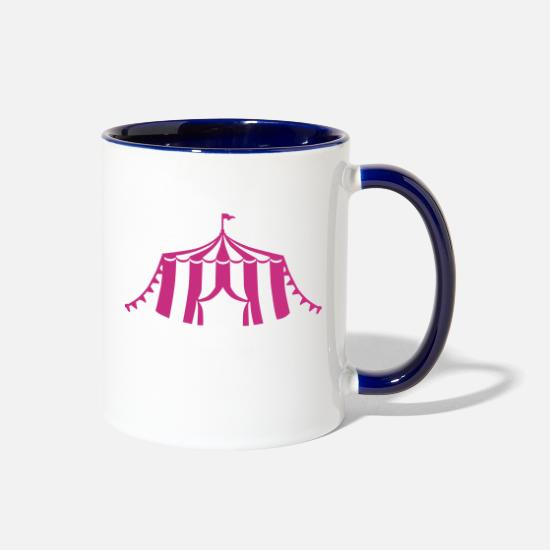 Artist Mugs & Drinkware - Circus - Two-Tone Mug white/cobalt blue