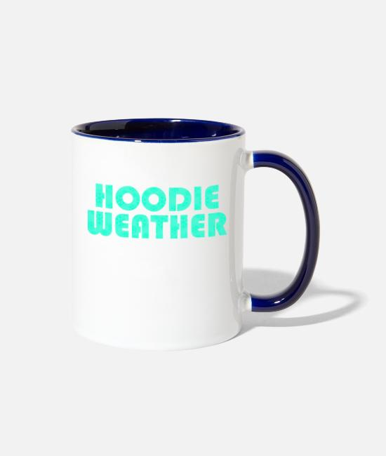 Pullover Mugs & Cups - Hoodie weather - Two-Tone Mug white/cobalt blue