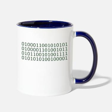 Code Binary Code (FUCK YOU!) - Two-Tone Mug