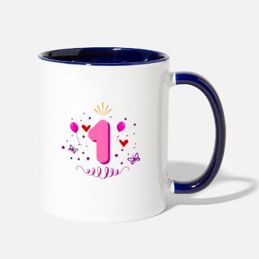Birthday 1st birthday for girls - Two-Tone Mug