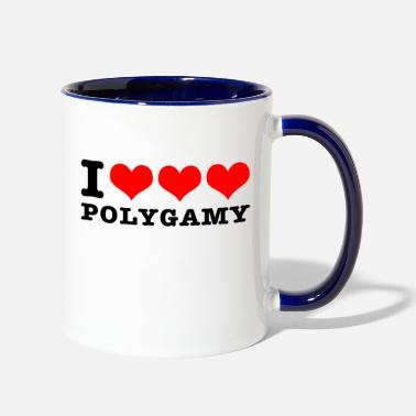 I love polygamy - Two-Tone Mug