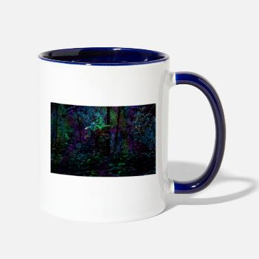 Forest A Ride in the Forest - Motocross MX Art - Two-Tone Mug