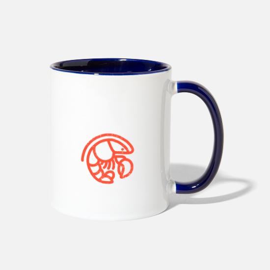 Lobster Mugs & Drinkware - Crawfish Boil Lobster Cajun Crayfish Food Gift - Two-Tone Mug white/cobalt blue