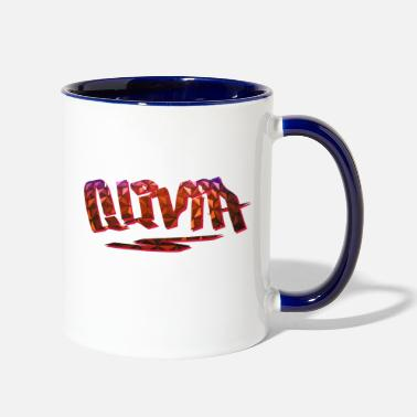 Birth Name Olivia Name Design - Two-Tone Mug