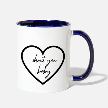 Baby not your baby - Two-Tone Mug