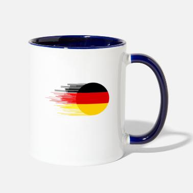 Flag german flag - Two-Tone Mug