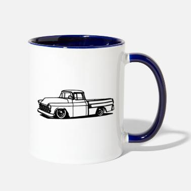 Old Oldies truck - Vintage car - Two-Tone Mug