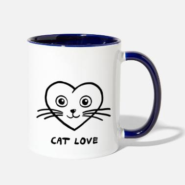 Uniform Cat Love Cats Kitten Funny Cute Cat Lover Gift Gra - Two-Tone Mug