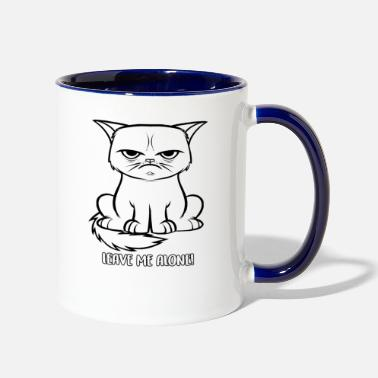 Bad Leave me alone Grumpy cat - Two-Tone Mug
