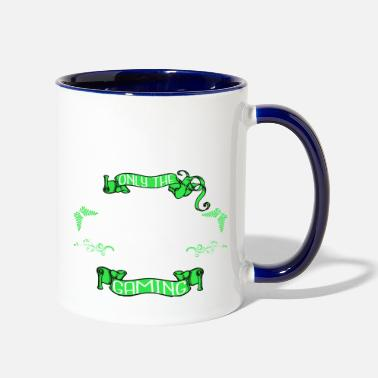 Game Over videogamer fun competition happy player video - Two-Tone Mug