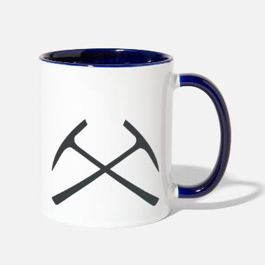 Pickaxe pickaxe crossed - Two-Tone Mug