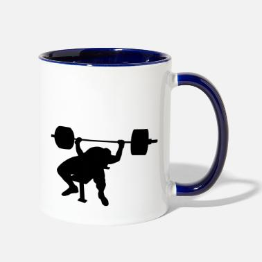 Power Press Bench press - Two-Tone Mug
