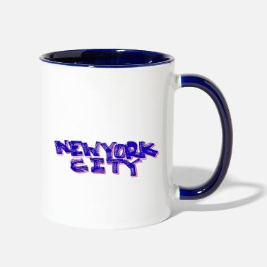 Bronx New York City Fat Marker (Red, White and Blue) - Two-Tone Mug