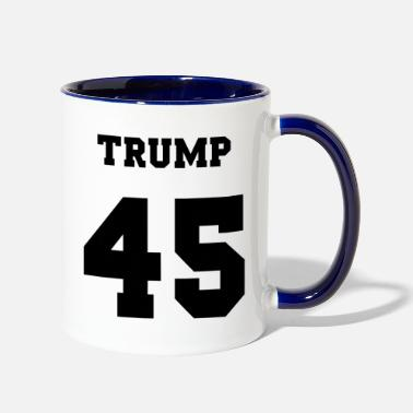 Jersey Number Trump 45 jersey number - Two-Tone Mug