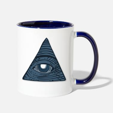All Seeing Eye all seeing eye - Two-Tone Mug