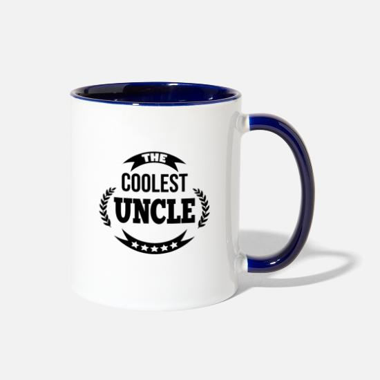 Uncle Mugs & Drinkware - The coolest uncle! - Two-Tone Mug white/cobalt blue