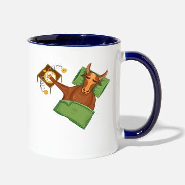 Handraft Taurus|Add Text|Text examples in the description! - Two-Tone Mug