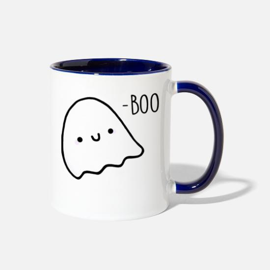 Boo Mugs & Drinkware - 17- Boo - Two-Tone Mug white/cobalt blue