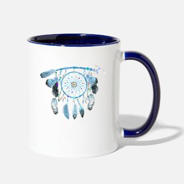 Jewelry Indian Jewelry,Native American Jewelry, feather - Two-Tone Mug