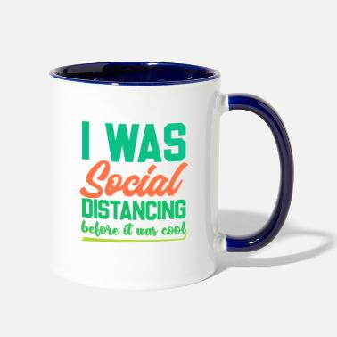 Funny Introvert Shirts | Funny Social Distancing - Two-Tone Mug