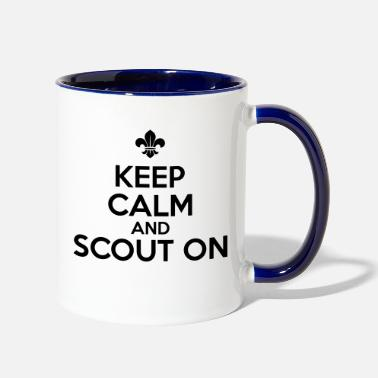 Calm 0_keep calm and scout on_1c - Two-Tone Mug