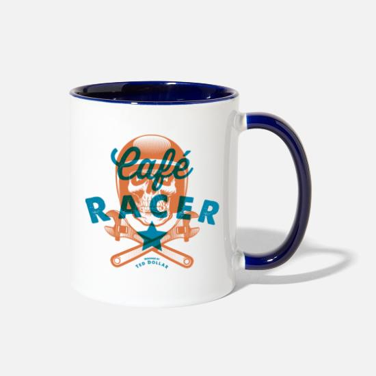 Vintage Collection Mugs & Drinkware - Café Racer - Two-Tone Mug white/cobalt blue