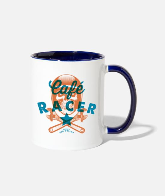 Collections Mugs & Drinkware - Café Racer - Two-Tone Mug white/cobalt blue