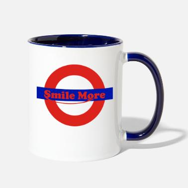 Smile More smile more - roman - Two-Tone Mug