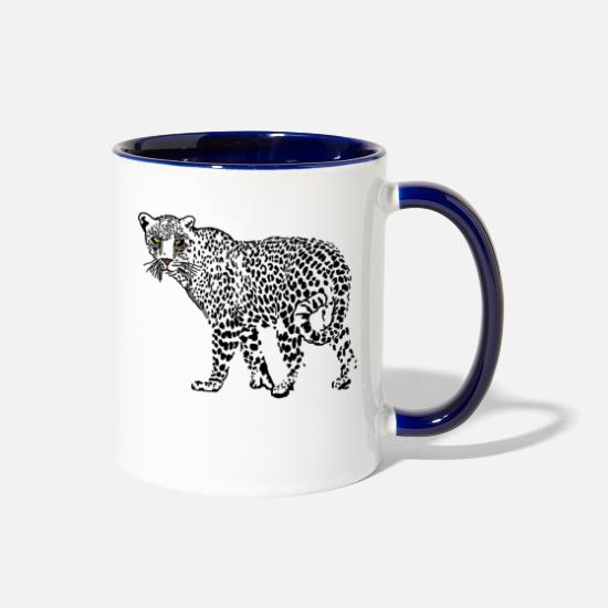 Nature Mugs & Drinkware - Jaguar - Two-Tone Mug white/cobalt blue