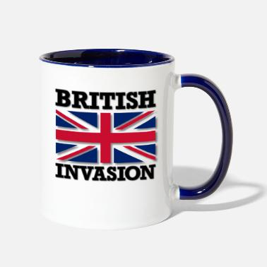 Jack British Invasion with Union Jack Flag - Contrast Coffee Mug