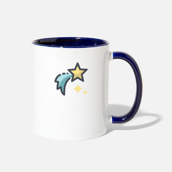 Star Mugs & Drinkware - shooting star - Two-Tone Mug white/cobalt blue