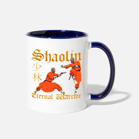 Shaolin Mugs & Drinkware - Shaolin Warrior - Two-Tone Mug white/cobalt blue