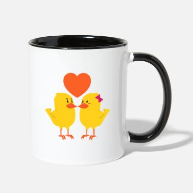 Couple Couples girlfriend couple friend gift couple love - Two-Tone Mug