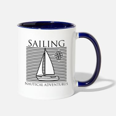 Sailing Sailing nautical Adventures - Two-Tone Mug