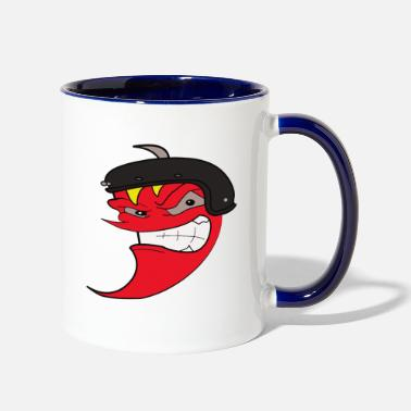 furious pepper - Two-Tone Mug