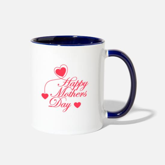 Day Mugs & Drinkware - mothers day - Two-Tone Mug white/cobalt blue